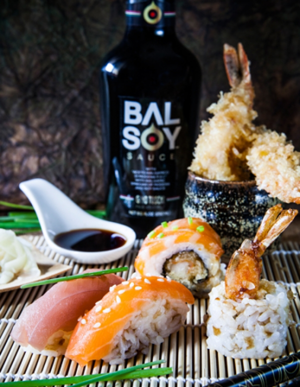 SUSHI WITH BALSOY SAUCE
