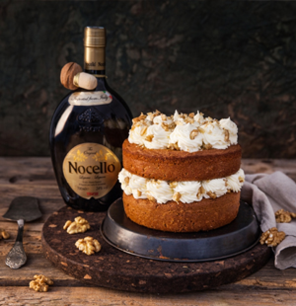NOCELLO AND COFFEE CAKE WITH BUTTERCREAM