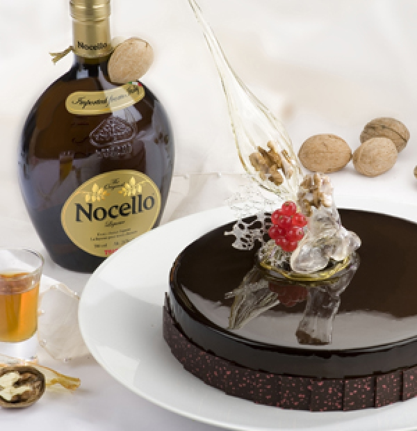 BAVARIAN WITH NOCELLO AND CHOCOLATE CREMOSO
